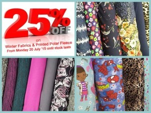 Winter Sale at Fabric World in George