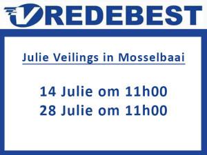 Julie Veiling Datums in Mosselbaai