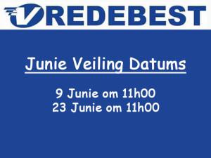 Junie Veiling Datums in Mosselbaai