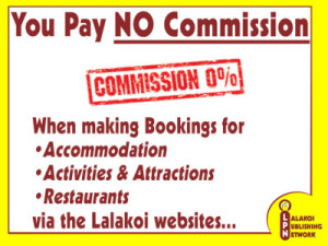NO Commission Payable When Making Bookings via the Lalakoi Websites