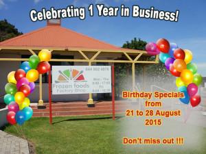Frozen Foods Factory Shop Birthday Specials