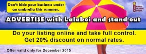 Get Listed on the Lalakoi Directory at Discounted Rates