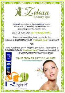 RégimA Special Offer at Zelexa Spa in Mossel Bay