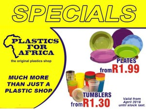 Special on Plastic Plates and Tumblers in George