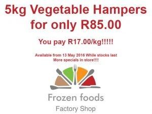 Frozen Vegetable Hampers in George