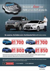 Special Offer on Ford Vehicle Services in Mossel Bay