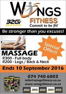 Sport Massage Special Offer in Mossel Bay