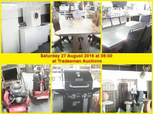 27 August Auction at Tradesman Auctions in George