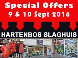 Hartenbos Butchery Special Offers 9 and 10 September 2016