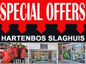 Weekend Special Offers at Hartenbos Slaghuis