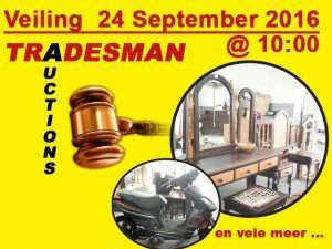 Tradesman Auctions Veiling 24 September in George