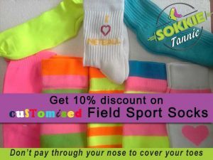 Customised Field Sport Socks in the Garden Route South Africa