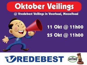 Oktober Veilingdatums in Mosselbaai