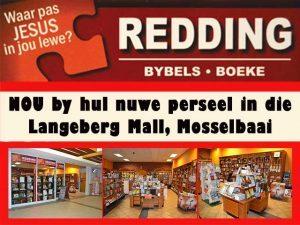 Redding Boeke & Bybels nou in die Langeberg Mall Mosselbaai