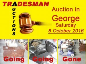 Tradesman Auctions 8 October Auction in George