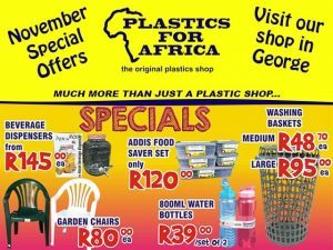 Specials at Plastics for Africa in George