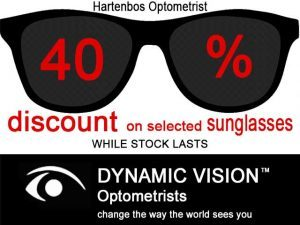 40% Discount on selected Sunglasses in Hartenbos