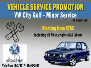 VW City Golf Vehicle Service Special Offer in Mossel Bay
