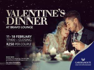 Valentine's Dinner Special at the Bravo Lounge