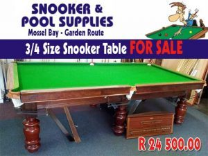 ¾ Size Snooker Table For Sale in Mossel Bay