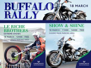 Buffalo Rally Cruising to the Garden Route Casino