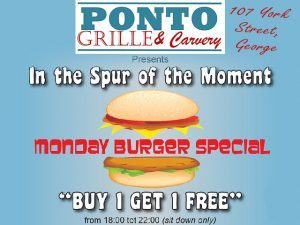Monday Burger Special in George