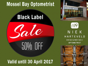 Black Label Sale at Mossel Bay Optometrist