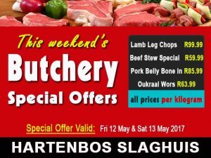 Weekend Butchery Specials in Hartenbos