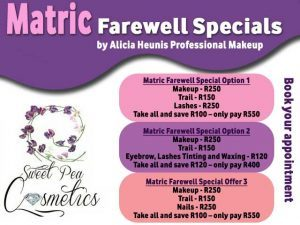 Matric Farewell Beauty Specials in Mossel Bay