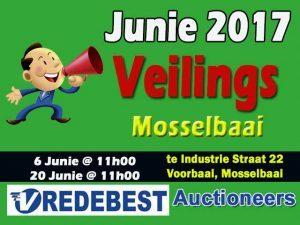 Mosselbaai Vredebest Veilings Junie 2017