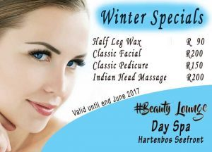 Specials at Seefront Hartenbos Beauty Salon
