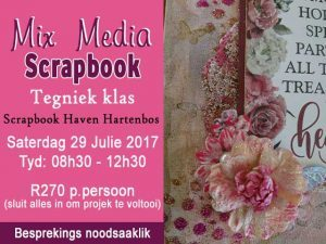 Mix Media Scrapbook Klas in Hartenbos