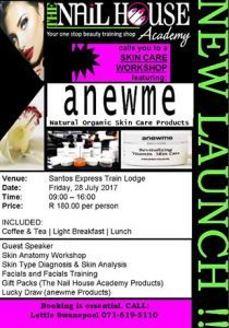 Anewme Skin Care Workshop in Mossel Bay