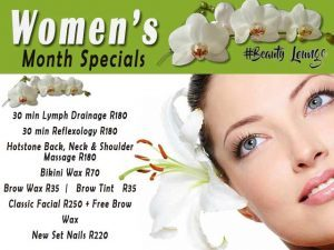 Women's Month Beauty Specials in Hartenbos