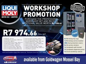 Liquimoly Workshop Promotion at Goldwagen Mossel Bay