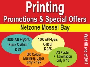 Printing Promotions in Mossel Bay