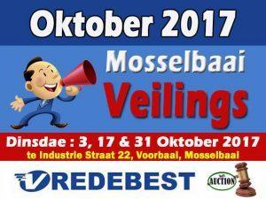 Mosselbaai Veilings Oktober 2017