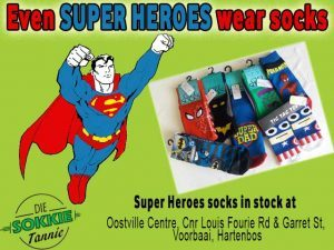 Even Super Heroes wear Socks