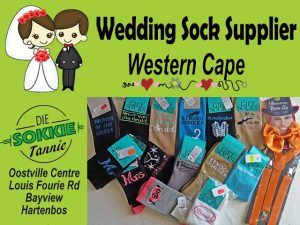Novelty Wedding Sock Supplier in the Western Cape