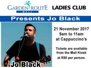 Jo Black at the Garden Route Mall in George
