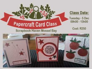 Papercraft Card Class in Mossel Bay