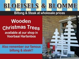 Wooden Christmas Trees For Sale in Hartenbos