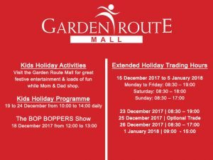 Garden Route Mall Festive Entertainment and Trading Hours