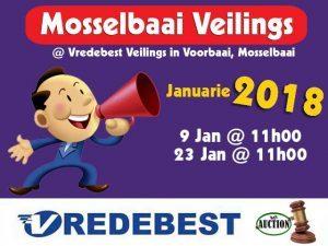 Januarie 2018 Veilings in Mosselbaai