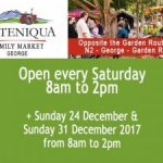 December Market Dates for Outeniqua Family Market in George