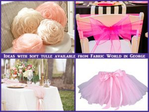 New Range of Vinyl and Soft Tulle Now at Fabric World in George