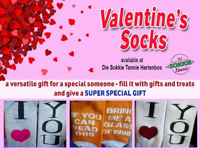 Socks for Valentine's Day in Hartenbos