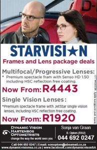 Starvision Frames and Lenses Package Deals in Hartenbos