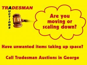 Tradesman Auctions in George Moved