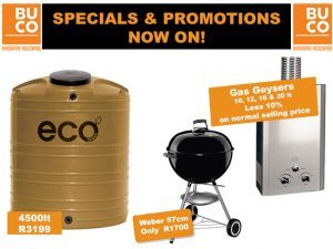 Specials and Promotions at BUCO George